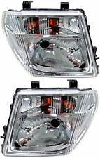 Pair Headlights Nissan Navara D40 Pathfinder R51 M Series 1 12/05-06/07 Lamps