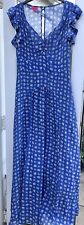 Monsoon Fusion Blue Floral Maxi Dress UK14 Summer Wedding Cruise  Holiday
