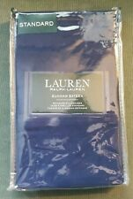 Ralph Lauren Dunham Sateen TWO Standard CADET BLUE Pillowcases 300 THREAD COUNT