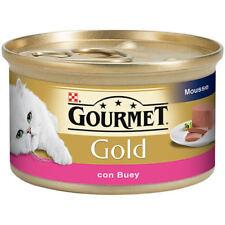 Purina Gourmet Gold Mousse Buey 24x85g Comida Húmeda Gatos