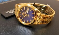 Orient Classic Dress Watch Automatic Gold Tone Deep Blue Dial FREE US SHIPPING