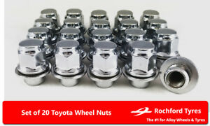 Original Style Wheel Nuts (20) 12x1.5 Nuts For Toyota Altezza 98-05
