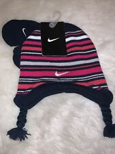 💖 New Nike Knit 2 piece Hat and Gloves Set Beanie Size 2/4T Msrp $20