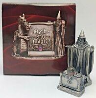 Myth and Magic Tudor Mint Pewter Fantasy Figurine Wizard Keeper of Treasure 3046