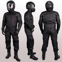 NEUE MOTORRADKOMBI JACKE und HOSE -TEXTILKOMBI - HERAUSNEHMBARE PROTEKTOREN