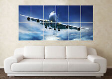 Large Boeing 747 Jumbo Jet Wall Poster Art Picture Print