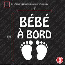 2x BÉBÉ À BORD empreinte de pieds Sticker Car decal