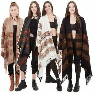 Bohemian Wrap Jacket, Cosy Tribal Blanket Coat, Psy Trance Hippy Kimono Jacket