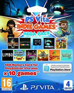PlayStation PS Vita 4GB Memory Card & Indie Games Mega Pack - EXPIRED 31/12/2016