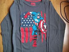 tee*shirt manche longue captain america de taille 11,12 ans