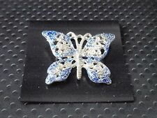 vintage safety pin Butterfly Brooch scarf shawl