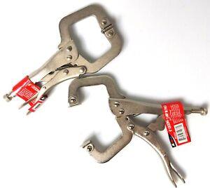 """2pc 6"""" Locking Grip Vise C-Clamp - Welding Sheet Metal Plier Tool Set New 48"""