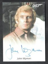 JAMES BOND 007 MISSION LOGS AUTOGRAPH CARD by JOHN WYMAN FOR YOUR EYES ONLY