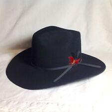 98a38e97015 VINTAGE RESISTOL BLACK COWBOY HAT NEAR MINT 6 7 8 4 XXXX BEAVER SELF  CONFORMING