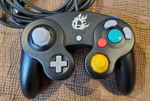 Nintendo Super Smash Bros Controller Black Gamecube Wii U Switch OEM Barely Used