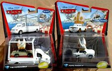 Lot of 2 Disney Pixar Cars 2 Deluxe Pope Pinion IV & The Popemobile
