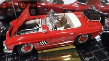 New . 1/18 Bburago Gold Collection Red Mercedes Benz 300 Sl Touring 1957 Nib