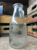 Early Vintage Quart Bottle Milk Products Co. Telephone Dairy Chicago Illinois