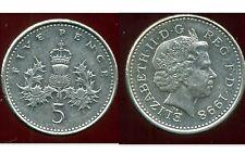 ROYAUME UNI   five   5  pence 1998  ( bis )