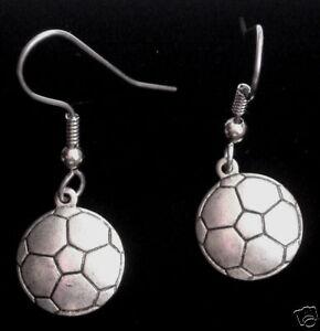 Soccer Ball Soccerball Earrings Oxidized Matte Silver FootballTeri's Nostalgic C