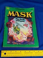 1986 GOLDEN M.A.S.K. THE BOOK OF POWER UNUSED COLORING BOOK VTG TRAKKER KENNER
