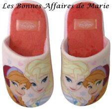 DISNEY - LIQUIDATION - Pantoufles roses La Reine des Neiges P27/28 - Neuves éti
