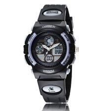 OHSEN Children Girls Boy White Day Alarm 32mm Case Digital Quartz Wrist Watch