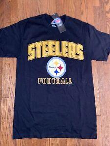 PITTSBURGH STEELERS T Shirt MAJESTIC NEW W/TAGS Men's SMALL Black NFL GEAR