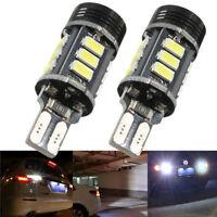 2*Xenon White No Error Canbus T15 W16W 5630 COB 15-LED Backup Reverse Light Bulb