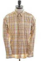Carrera Mens Shirt Medium Multi Check Cotton