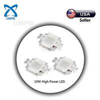 1Pcs 10Watt High Power LED Chip SMD Beads Buld Blue 460-470nm Light Lamp Diodes