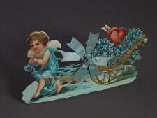 Aufsteller mit Engel um 1900/1910 / geprägter Karton (# 11885)