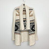 BB Dakota Chunky Knit Open Southwest Cardigan, Size S