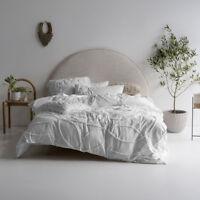 Linen House Manisha White Cotton Quilt Cover Set   Queen King Super King