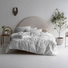 Linen House Manisha White Cotton Quilt Cover Set | Queen King Super King