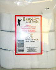 """PRO-SHOT™ 500 COUNT, 1 3/4"""" FLANNEL CLEANING PATCHES, rifle gun .30 .308 7.62mm"""