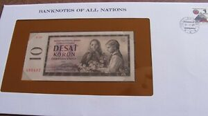 BANKNOTES OF ALL NATIONS 1960 CZECHOSLOVAKIA 10 KORUN P88b  E26 E495497