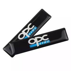 2ps OPC Line Badge Emblem ABS Black Styling Sticker For All Vauxhall Opel