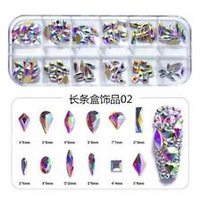 3D Nail Art Glitter Rhinestones Mix Crystal AB FlatBack Diamonds Tips Decoration
