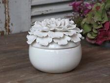 Dose Schale Schmuckdose mit Deckel -Blume- Keramik Vintage Shabby Chic Antique