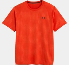 Under Armour T-SHIRT MEN'S UA TECH PATTERNED SS L Large 1236401 VOLCANO 838 NWT