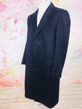 Ysl Yves Saint Laurent Navy Pure New Wool Wool Longline Coat Large RRP£1275 B4