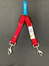 "Red Adjustable Coupler Large Fits Any Size Dog 18"" to 23""  Walk 2 Dogs At Once"