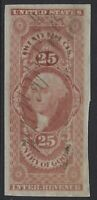 US Stamps - Sc# R45a - 25c Entry of Goods - Imperf - VF                  (J-295)