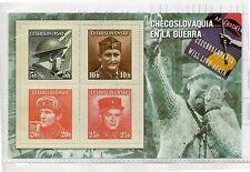 Hojita recuerdo emisiones Checoslovaquia en II Guerra mundial (DG-157)