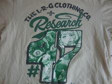 LRG Research #47 Deeper Roots Skateboard Surfboard Tan T Shirt Men's Size M