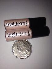 Benefit *HIGH BEAM* Pink Luminescent Highlighter Enhancer 2pc Mini Travel Set