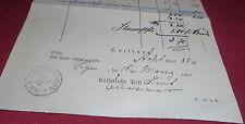 rechnung für das 2. vierteljahr zeitungen kaiserliche post alt antik 1881 papier