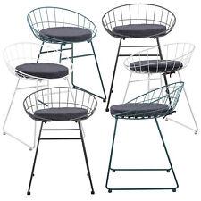 2x Design Stühle Metall Stuhl Set Lehnstuhl Metallstuhl Sessel Indoor/Outdoor