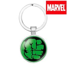HLK1 Marvel Comics HULK SMASH FIST Avengers Movie Metal Key chain cosplay